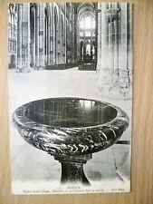 Postcard- ROUEN. Eglise Saint Ouen, Benitier ou La Grande Nef se Reftete (Exc*)