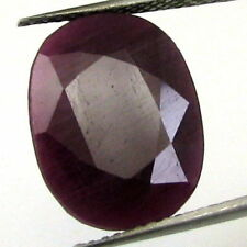 TOP LUSTER 13.9CT NATURAL UNTREATED RUBY (MANIK) OVAL FACETED RASHI SUN GEMSTONE