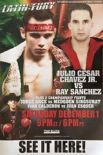 Original Vintage Julio Cesar Chavez Jr. vs. Ray Sanchez Boxing Fight Poster