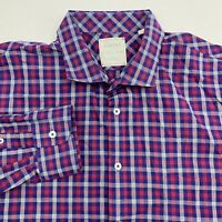 Billy Reid Button Up Shirt Men's Size 2XL XXL Long Sleeve Checkered Standard Cut