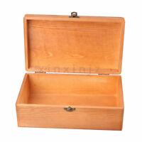 Pine Wood Wooden Storage Box 25x15x9cm Retro Color