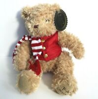 "FAO Schwarz Classic Teddy Bear Plush Stuffed Animal 12"" with Scarf & Vest"