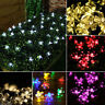 35 LED SOLAR STRING LIGHTS CHERRY BLOSSOM MULTI-COLOURED/ WHITE GARDEN LIGHTS