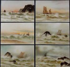 Raphael Tuck Set of 6 MARINE Postcard Series 2548 Artist M. MORRIS c1902 UB