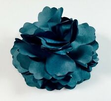 USA SELLER Hair Fabric Flower Clip Brooch Womens Rose Peony Lady Sheer Blue
