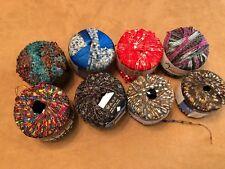 Ribbon yarn multicolor lot 5 skein lot tahki boho lattice knit crochet craft