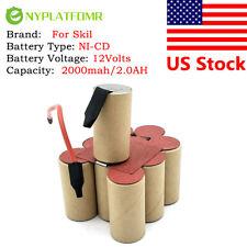 2000mah for Skil 12V Ni-CD Battery pack Super Power For self-installation