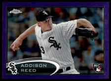 2012 Topps Chrome Purple Refractor Addison Reed RC White Sox #166 10=Fs