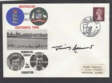 Cricket FDC - Australian Centennial Tour - Signed by JIMMY ADAMS