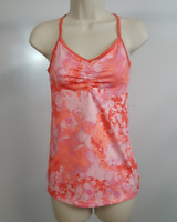 Champion Womens Athletic Tank Top Pink Orange Built In Bra Yoga Workout S New