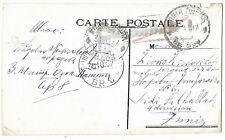 Serbia 1915 Greece military post 8 censored card Tunisia Sidi Fathallah