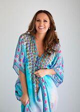 Kaftan dress, embellished Viscose Morrocan inspired print relaxed fit kaftan