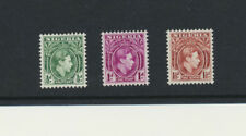 King George VI Nigeria #53 - 55 Mint Never Hinged 1938 Short Set
