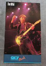 WHO Pete Townshend 1982 Q107 Toronto Canada Radio Promo Calender Poster VGEX C7
