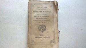 EXPLICATION DES OUVRAGES DE PEINTURE SCULPTURE ARCHITECTURE - PARIS 1876 *