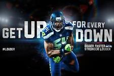 Seattle Seahawks Bobby Wagner Poster 24x36 Banner Wall Art Home Decor