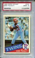 1985 Topps Tiffany Baseball #536 Kirby Puckett Rookie Card Graded PSA MINT 9