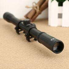 Tactical Air Rifle Gun 4X20 Optics Sniper Scope Sight Telescopic 11mm Rail Mount