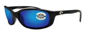 Costa Del Mar Brine Matte Black Frame Blue Mirror 580 Glass Polarized Lens new