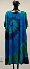 NWT La Cera  Tie Dye Cotton Knit  Pockets Bohemian Gypsy Dress Plus 1X