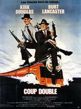 Affiche 40x60cm COUP DOUBLE /TOUGH GUYS 1986 Kirk Douglas, Burt Lancaster TBE