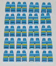 LEGO LOT OF 20 NEW SHORT KIDS LEGS PANTS BLUE AND YELLOW PARTS