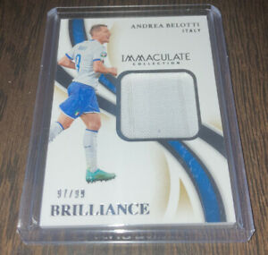 2020 Panini Immaculate Soccer Andrea Belotti BRILLIANCE Worn Patch #/99 Italy