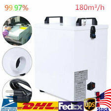 Pure Air Fume Extractor Smoke Purifier Filter For Cnc Laser Engraving Machine Us
