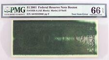 2001 $1 Frn Boston Fr#1926-A Ae Block Test Note Ink Error Gem Unc 66 Epq
