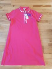 Original Penguin Long Polo Shirt / Dress Geranium Reddish Pink Size M New BNWT