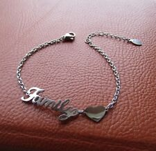 """Delizioso bracciale da donna con scritta """"FAMILY ❤ """" - Acciaio 316L"""