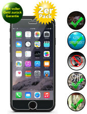 2x Apple iPhone 6s Panzerglas 9H Echtglas, Schutzfolie Glasfolie Panzerfolie