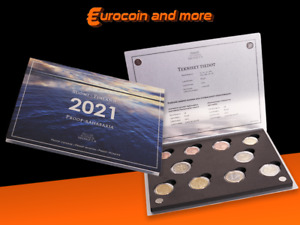 KMS Finnland 2021 1Cent - 2 Euro Jahres Set + 2Euro Journalismus + Aland  Proof