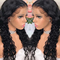 Pre Plucked Black Human Hair Lace Frontal Wig Full Wigs Deep curly baby hair