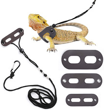 New listing 3 Pack Bearded Dragon Harness and Leash Adjustable S M L For Small Animals