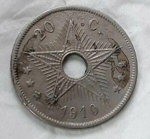 20 Centimes 1910 Congo Belgique