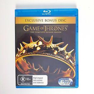 Game Of Thrones Season 2 Bluray Region 4 AUS Free Postage Blu-Ray - Drama