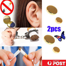 2pcs Cigarettes Magnetic Stop Smoke Ear Acupressure Ear Magnet Quit Anti-Smoking