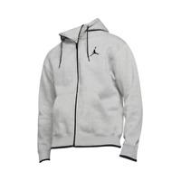 Jordan Jumpman Classics Full-Zip Fleece Hoodie Men's Grey Black Pullover Hoody