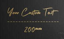200mm Personalised Custom Car Boat Window Vinyl Cut Decal Lettering Text Sticker