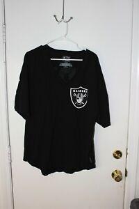Fanatics Womens NFL Las Vegas Raiders Raiders Loose Fit V-Neck Shirt Large