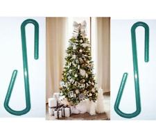 50 x  Small Green Plastic Christmas Ornament tree Hook Decoration Hanger