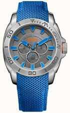 Hugo Boss Orange Mens Stainless Steel Blue Detail Watch 1513014