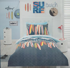 BEACH SURF LONG BOARD  BOARDS SINGLE bed QUILT DOONA COVER SET NEW