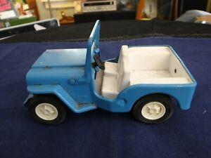 Vintage Tonka Jeep Blue Fold Down Windshield Pressed Steel Tonka Toys w/Decal!