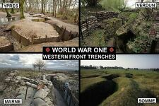 SOUVENIR FRIDGE MAGNET of WW1 WORLD WAR ONE WESTERN FRONT TRENCHES