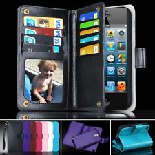 PU Leather Flip Wallet iPhone 4 Case Magnet Cover for Apple 4S With Card Holder