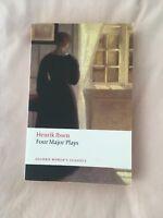 Ibsen Four Major Plays: (Doll's House; Ghosts; Hedda Gabler; Master Builder):