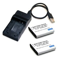 Battery / USB Charger For SONY Cyber-Shot DSC-W180 DSC-W190 DSC-W370 Brand New