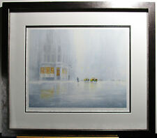 Jeff ROWLAND, Original Giclee, Rendezvous at 6PM, Signed #d Framed, Rainy City